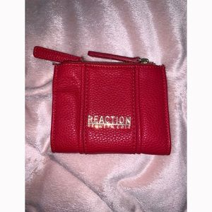 Kenneth Cole Reaction Red & Gold Pebbled Wallet